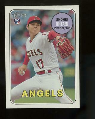 2018 Topps Heritage Action #600 Shohei Ohtani RC Rookie