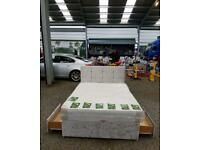 Crushed velvet divan beds any size and colour with free delivery
