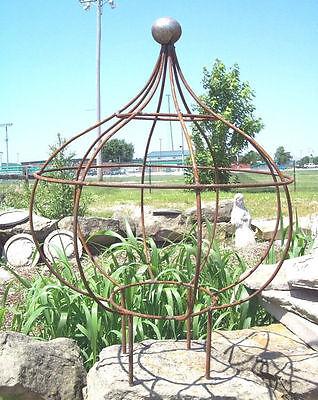Wrought Iron Ball Charlie Topiary Plant Trellis ...