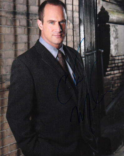 CHRISTOPHER MELONI.. Law & Order: SVU's Stabler - SIGNED