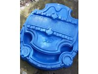 'Little Tikes' blue Castle sandpit