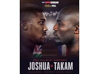 Anthony Joshua boxing tickets October 28th Cardiff