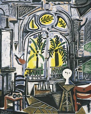 The Studio, 1955 by Pablo Picasso Art Print Cubism Poster 28x23