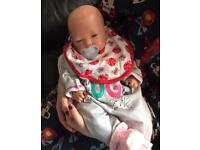 Realistic baby girl reborn doll £70 SOLD