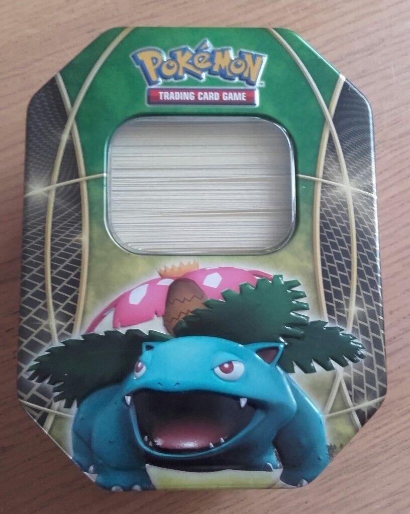 Pokemon Cards & Venusaur Collectors Tin (200 cards in perfect condition)