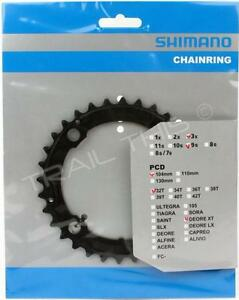 Shimano Deore XT M760 32T x 104mm BCD 9-Speed Bike Inner Chainring  MTB - Black