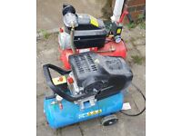 Two 24/25l compressors spares or repair, Airmaster & ERP