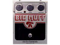 Electro Harmonix Big Muff Pi USA Fuzz Guitar effect pedal (stompbox) VGC + Diago power tip adapter