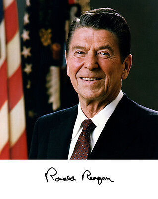 President Ronald Reagan Autograph 8 x 10 Photo Picture  #f2