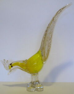 STUNNING-VINTAGE-MURANO-ITALY-ART-GLASS-BIRD