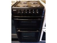 £140 Beko 50cm Solid Plate Cooker - 6 Months Warranty