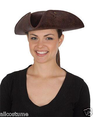Brown Tricorne Hat Distressed Felt Pirate Hat Colonial Hat Sam Adams Hat - Sam Adams Costume