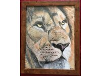 The Lion King - Framed print in a 16 x 13 inch frame