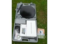 Silvercrest Digital Caravan Camping Portable Satellite System for Camping Caravan or Boat