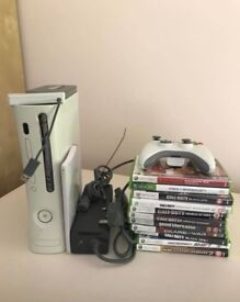 X Box 360 with 11 Games, controller, good condition