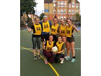 Netball Players Needed for New League in SW6 Monday nights.