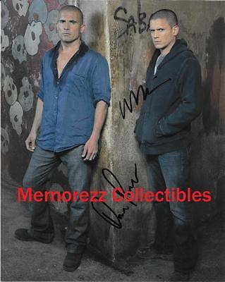 Prison Break Wentworth Miller   Dominic Purcell Signed Autograph Color Photo
