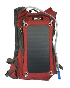 YUPAK Hydration Solar Charger Backpack with 7Watts Solar Panel & 10000 mAh Power Bank - SHIP ACROSS CANADA
