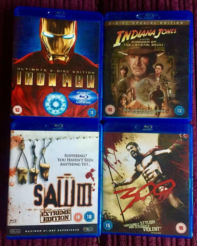 ⭐️ Set of 4 Blu ray Disc movies