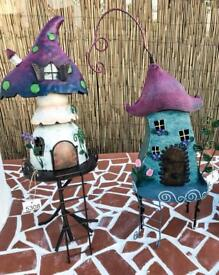 Fairy Garden Metal Handpainted Ornaments