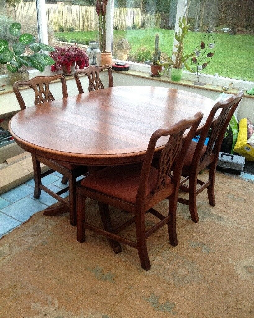 Beautiful Extending Dining Table And 4 Chairs Norwich Norfolk 13000 Iebayimg 00 S MTAyNFg4MTc
