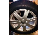 Brand new Audi Alloys complete with Brand new Dunlop Winter Tyres