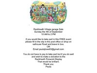 Rackheath Village Garage Sale 4th sept 10 - 2