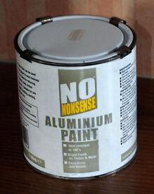 1 Litre Aluminium Paint (New unused)