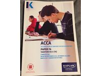 SELLING ACCA F6 COMPLETE TEXT FOR MARCH 2017 SETTING
