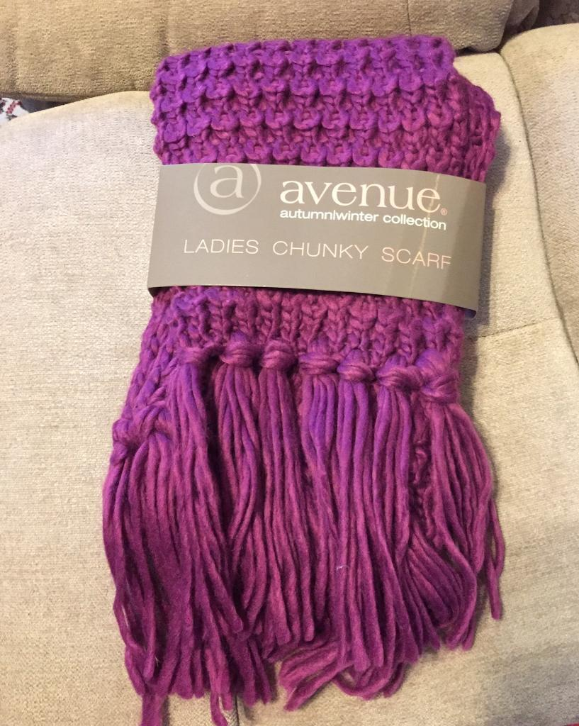 Purple Scarf, M&S, New still in wrappping.