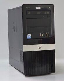 WINDOWS 7 HP DX2420 TOWER DUAL CORE 2.50GHZ PC COMPUTER - 2GB RAM - 320GB HDD