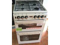 NEW WORLD NH550TSIDLM White Gas Cooker, 55cm Width, NEW with cosmetic issue