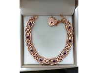 9ct Rose Gold & Amestyst Bracelet