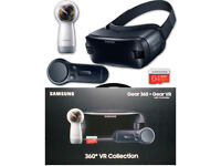 Brand New Sealed Box-Samsung Gear VR Collection Of 360° Camera + Goggles + 64GB SD Card + Controller