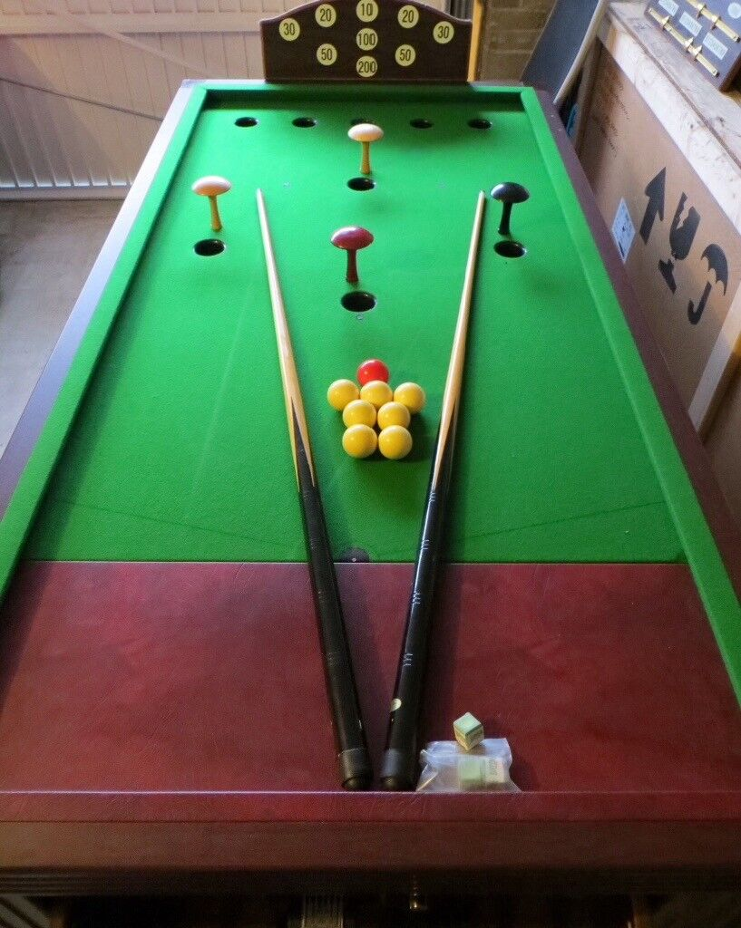 Bar Billiards Table Slate Bed Full Size Excellent