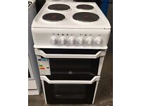Indesit IT50EW 50cm Twin Cavity Electric Cooker with 4 Burners in White New