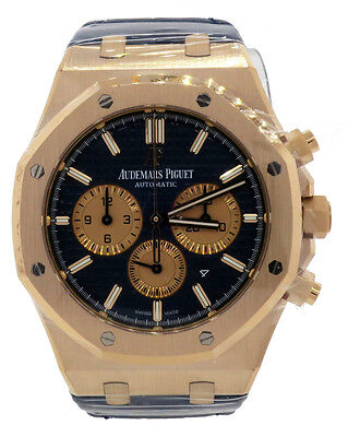 $38000.00 - Audemars Piguet Royal Oak Rose Gold 41mm Chronograph Blue 26331OR