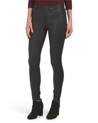 NWT - $998 J Brand L8001 Midrise Super-Skinny Dark Navy Leather Legging 26