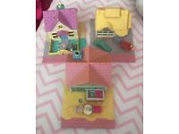 Three 90's Vintage Polly Pocket Houses