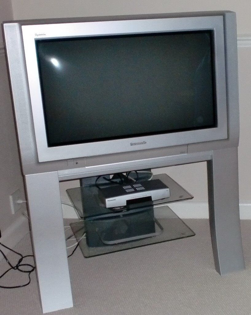"PANASONIC TX-28 PM11 28"" CRT TELEVISION, complete with stand and Freeview box"