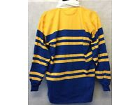 "Mens Rugby Shirt Stripe Long Sleeve Rugby Jersey Polo Shirt Top Size 44"" (#4896)"