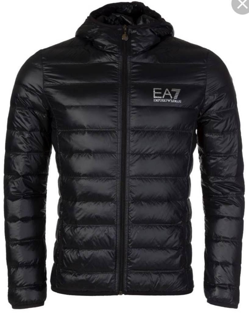 EA7 Men's Full Zip Train Core Superlight Padded Down Jacket