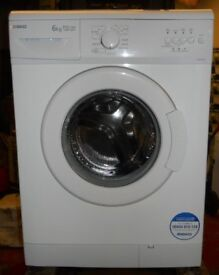 Beko WM6123w washing machine 1200 spin 6kg load A+A rated Guaranteed serviced £90
