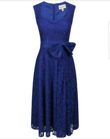 4 beautiful lindy bop swing dresses in royal blue bnwts