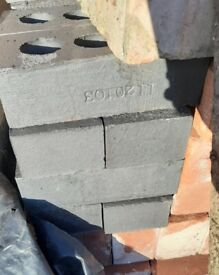 Blue and Red Engineering Bricks for Sale - Unused