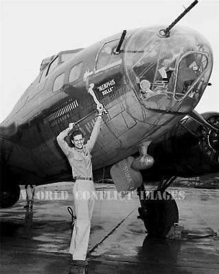 USAAF WW2 B-17 Bomber Memphis Belle Capt Morgan #6 8x10 Nose Art Photo USA Tour for sale  Shipping to Canada