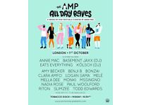 AMP all day rave - Tobacco Docks 01/10/16 x1 £49.50