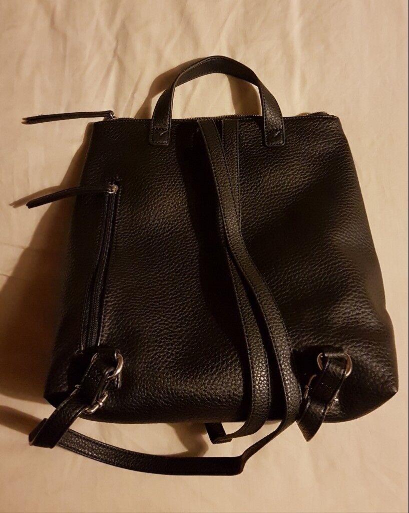 Beautiful black Fiorelli Lexi vegan leather backpack