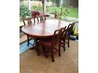 Beautiful Hardwood Dining Table and Chairs