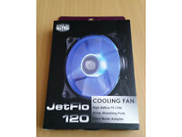 Pair of Coolermaster Jetflo 120mm Blue LED PWM 4 Pin Fans